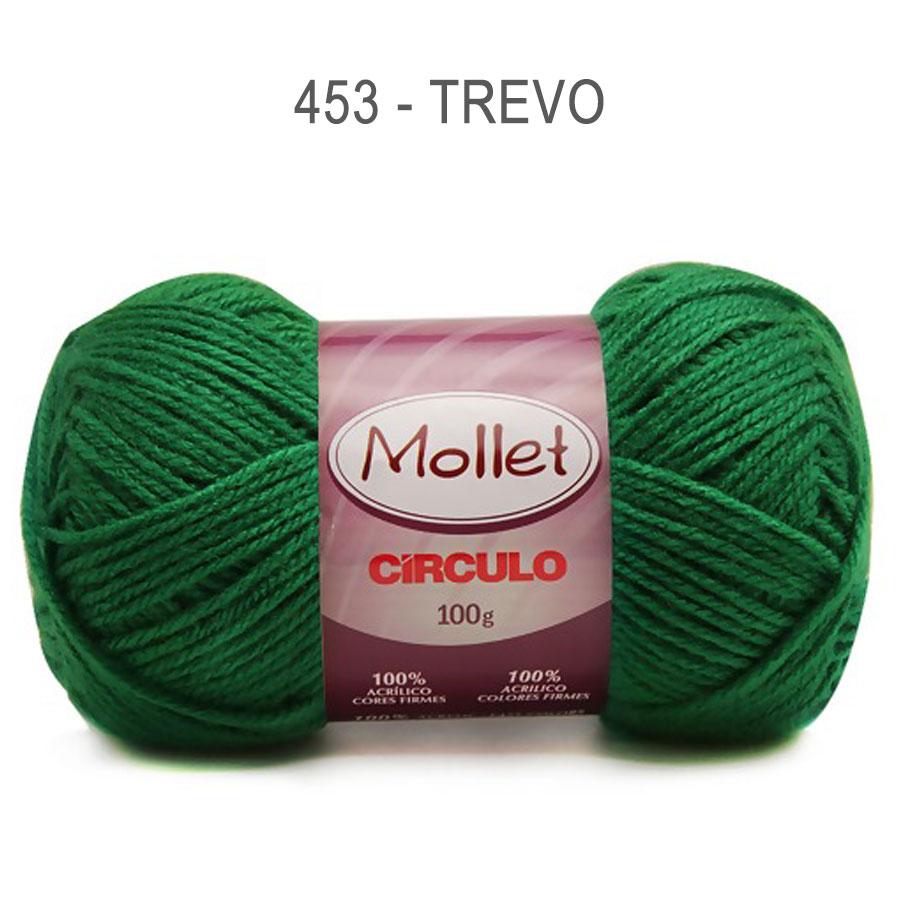 Lã Mollet 100g Cores Lisas - Circulo - 453 - Trevo