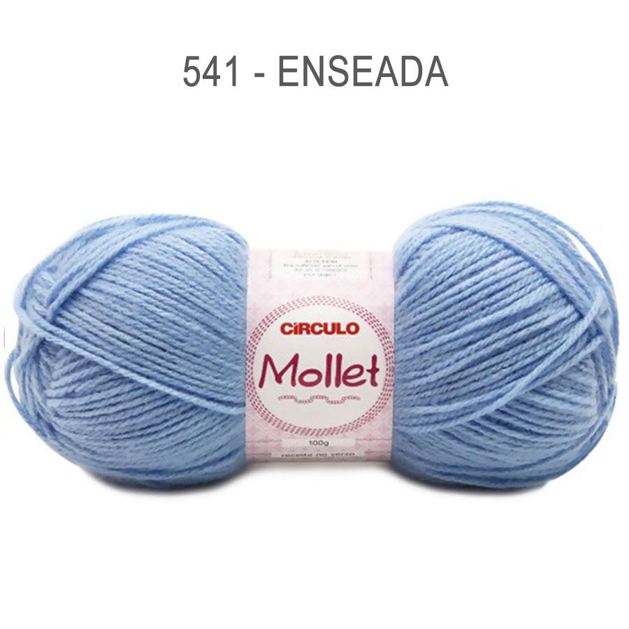 Lã Mollet 100g Cores Lisas - Circulo - 541 - Enseada