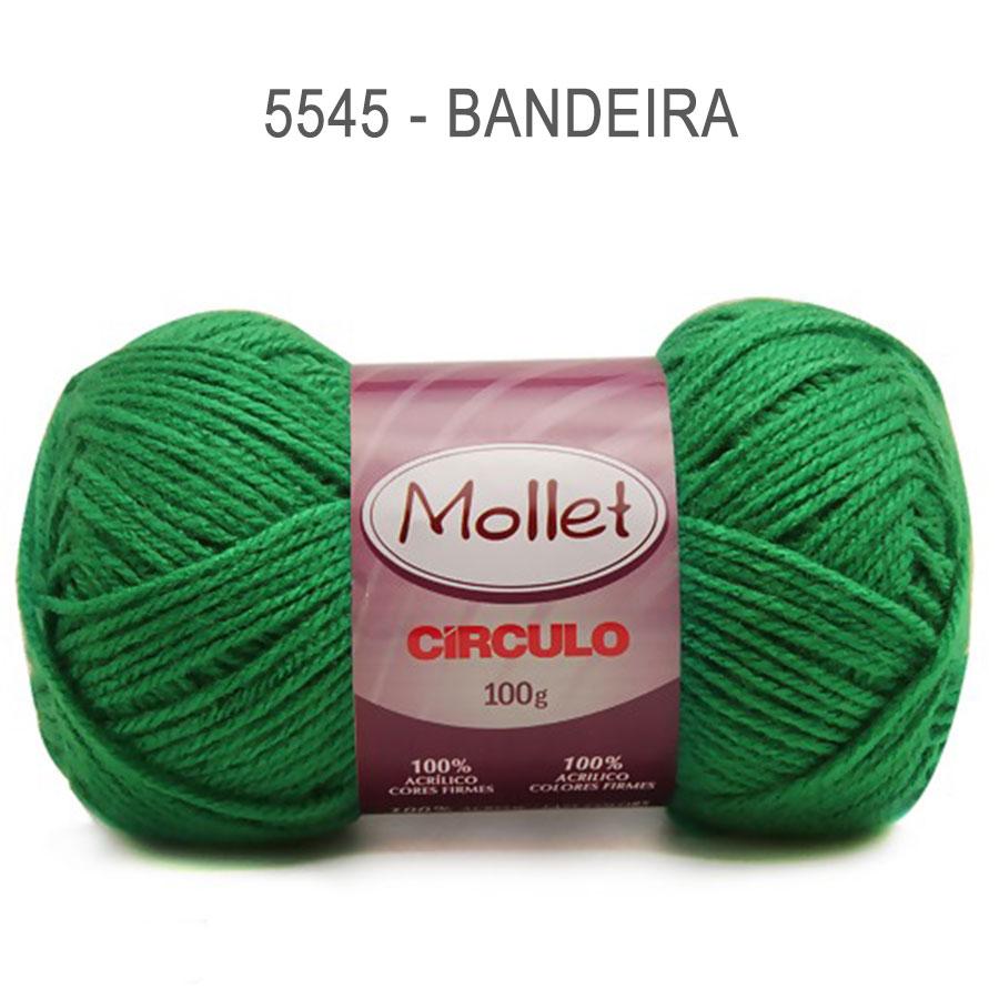 Lã Mollet 100g Cores Lisas - Circulo - 5545 - Bandeira