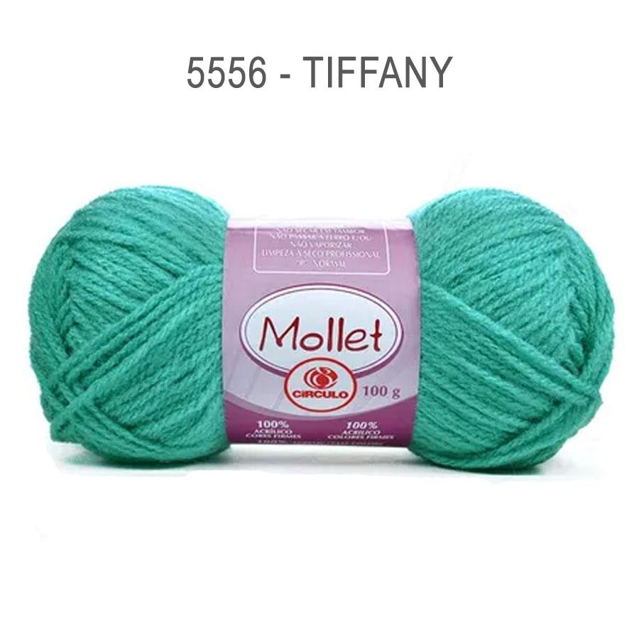 Lã Mollet 100g Cores Lisas - Circulo - 5556 - Tiffany