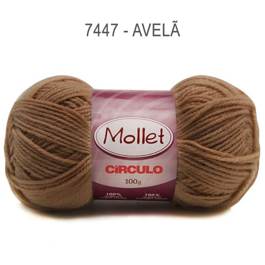Lã Mollet 100g Cores Lisas - Circulo - 7447 - Avelã