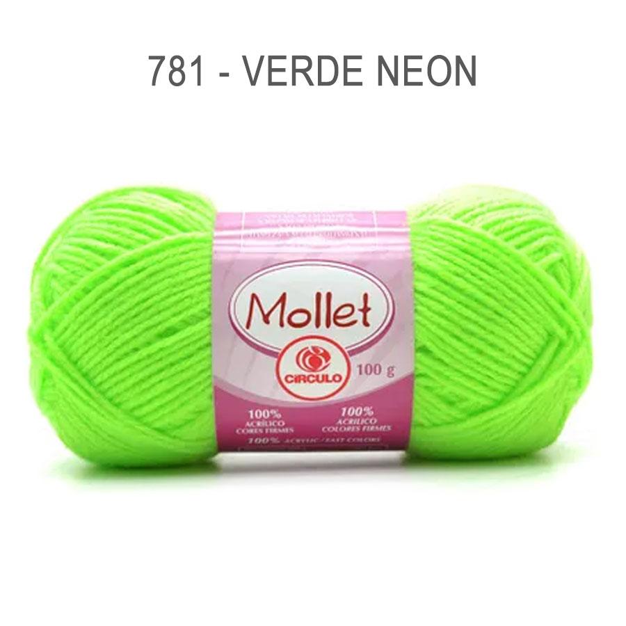 Lã Mollet 100g Cores Lisas - Circulo - 781 - Verde Neon