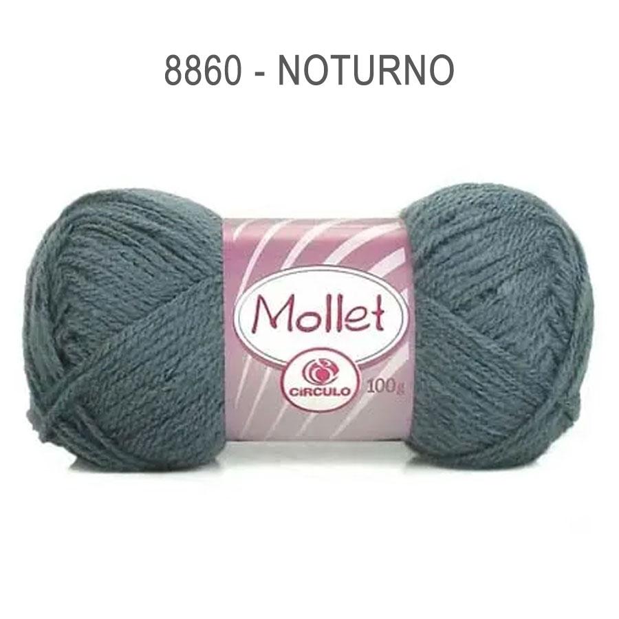 Lã Mollet 100g Cores Lisas - Circulo - 8860 - Noturno