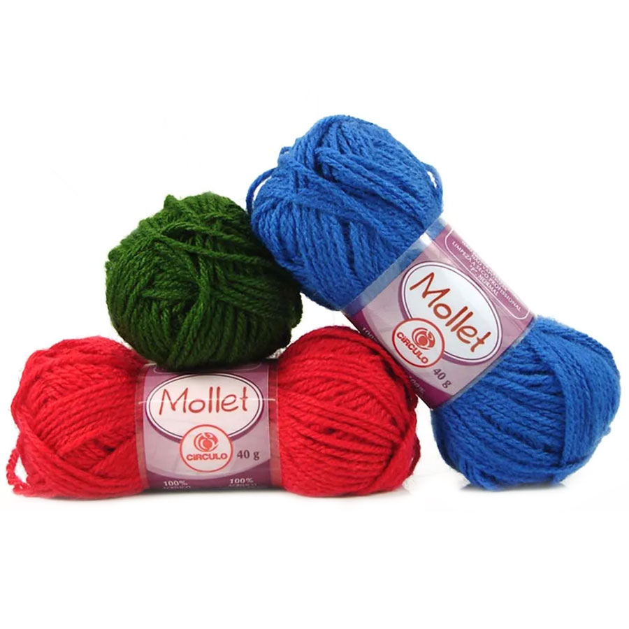 Lã Mollet Cores Lisas 40g 01