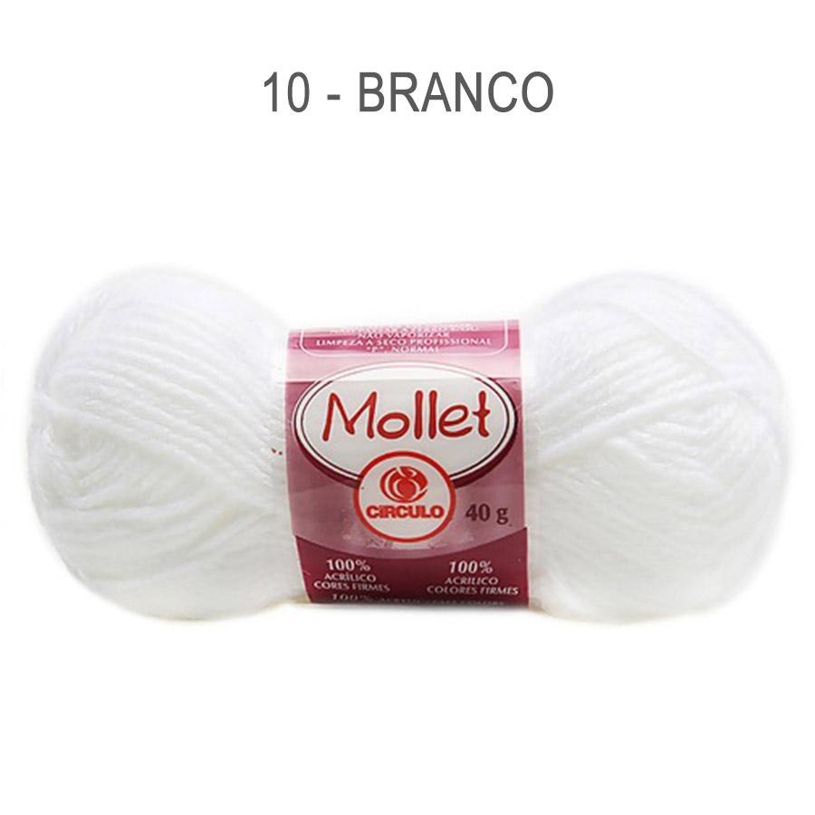 Lã Mollet 40g Cores Lisas - Circulo - 10 - Branco