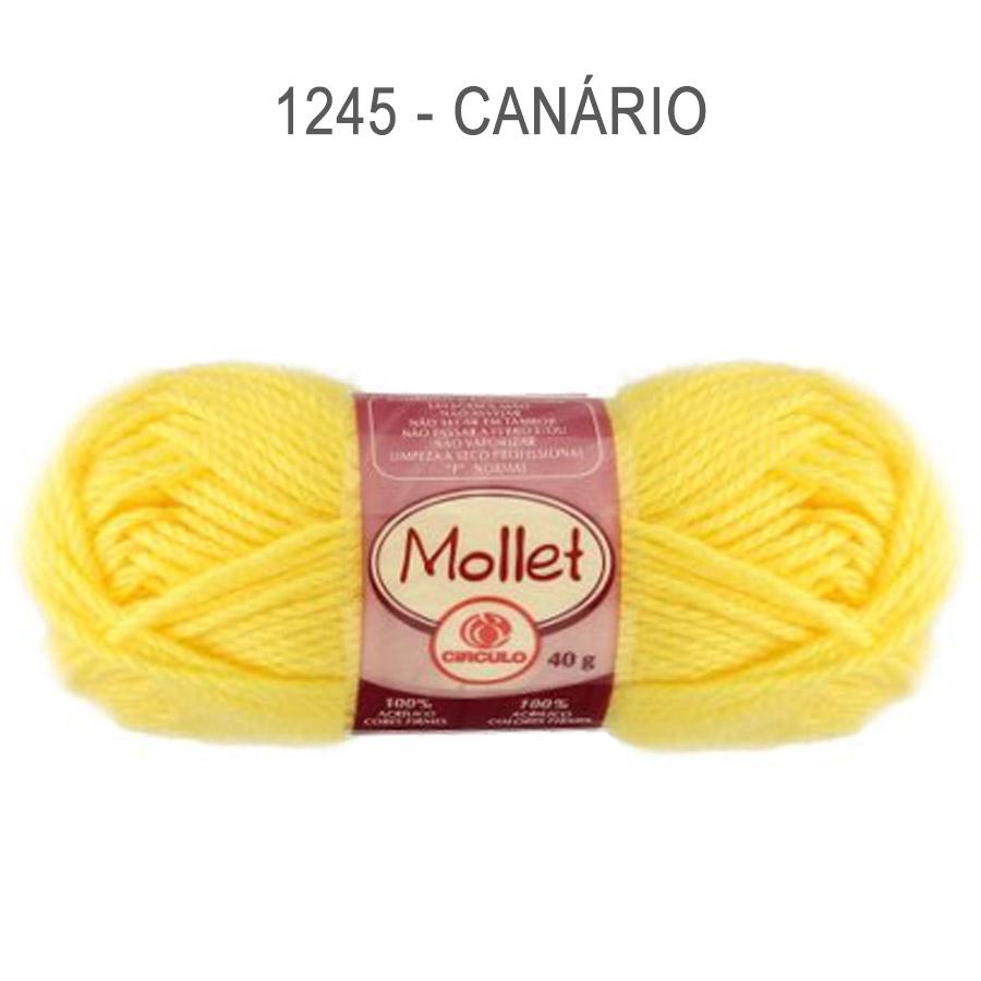 Lã Mollet 40g Cores Lisas - Circulo - 1245 - Canário