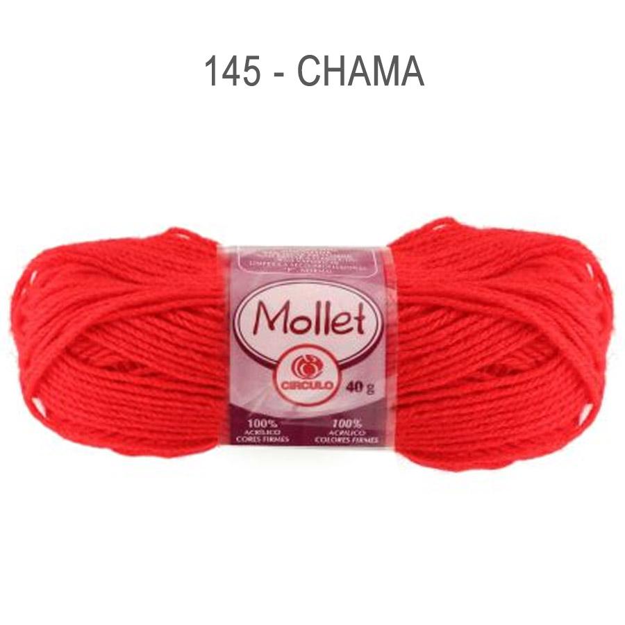 Lã Mollet 40g Cores Lisas - Circulo - 145 - Chama