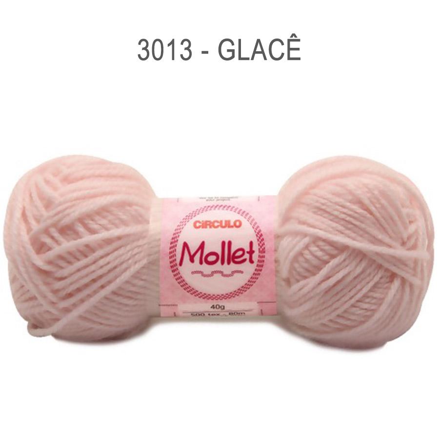 Lã Mollet 40g Cores Lisas - Circulo - 3013 - Glacê