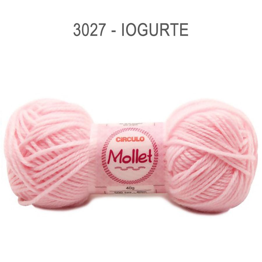 Lã Mollet 40g Cores Lisas - Circulo - 3027 - Iogurte