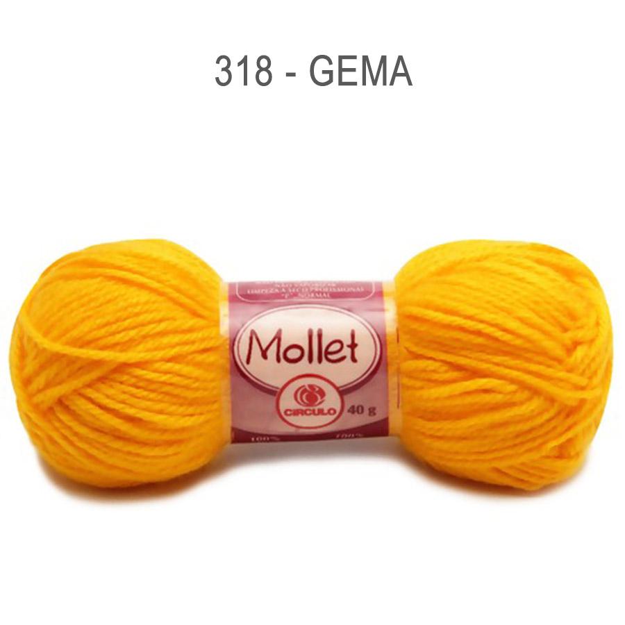 Lã Mollet 40g Cores Lisas - Circulo - 318 - Gema