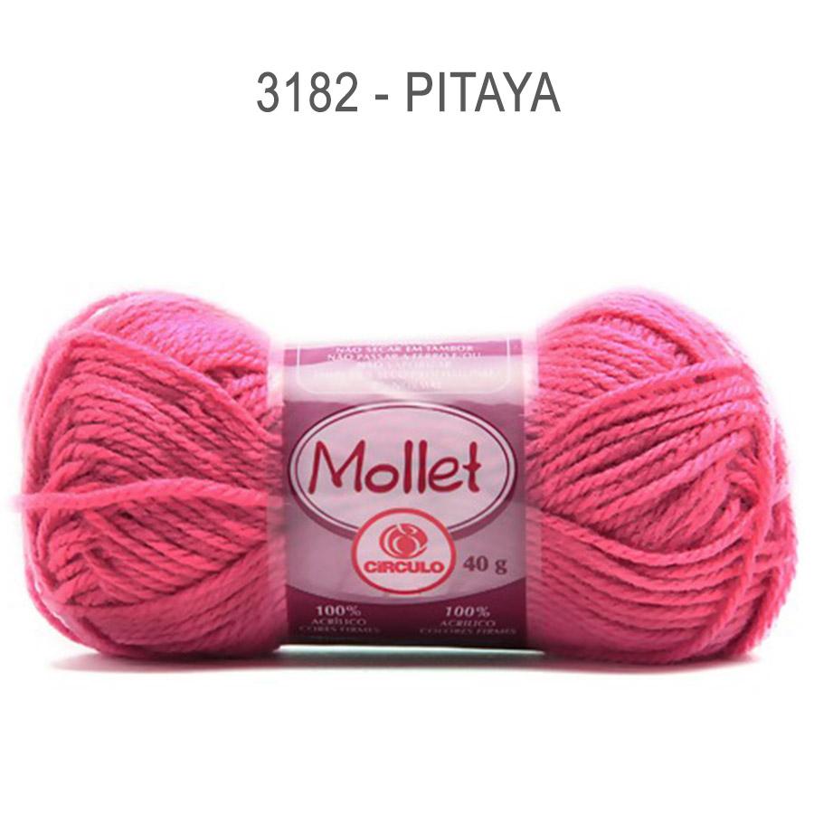 Lã Mollet 40g Cores Lisas - Circulo - 3182 - Pitaya