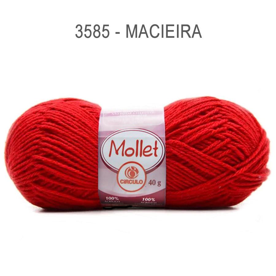 Lã Mollet 40g Cores Lisas - Circulo - 3585 - Macieira