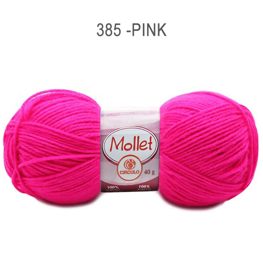 Lã Mollet 40g Cores Lisas - Circulo - 385 - Pink