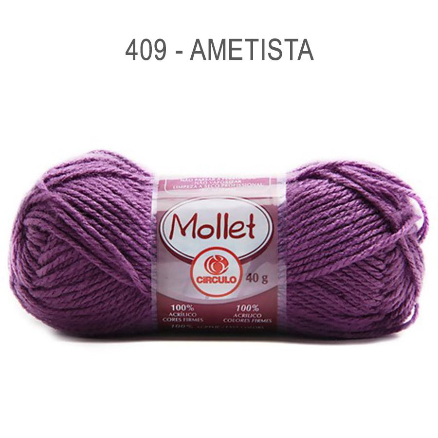 Lã Mollet 40g Cores Lisas - Circulo - 409 - Ametista