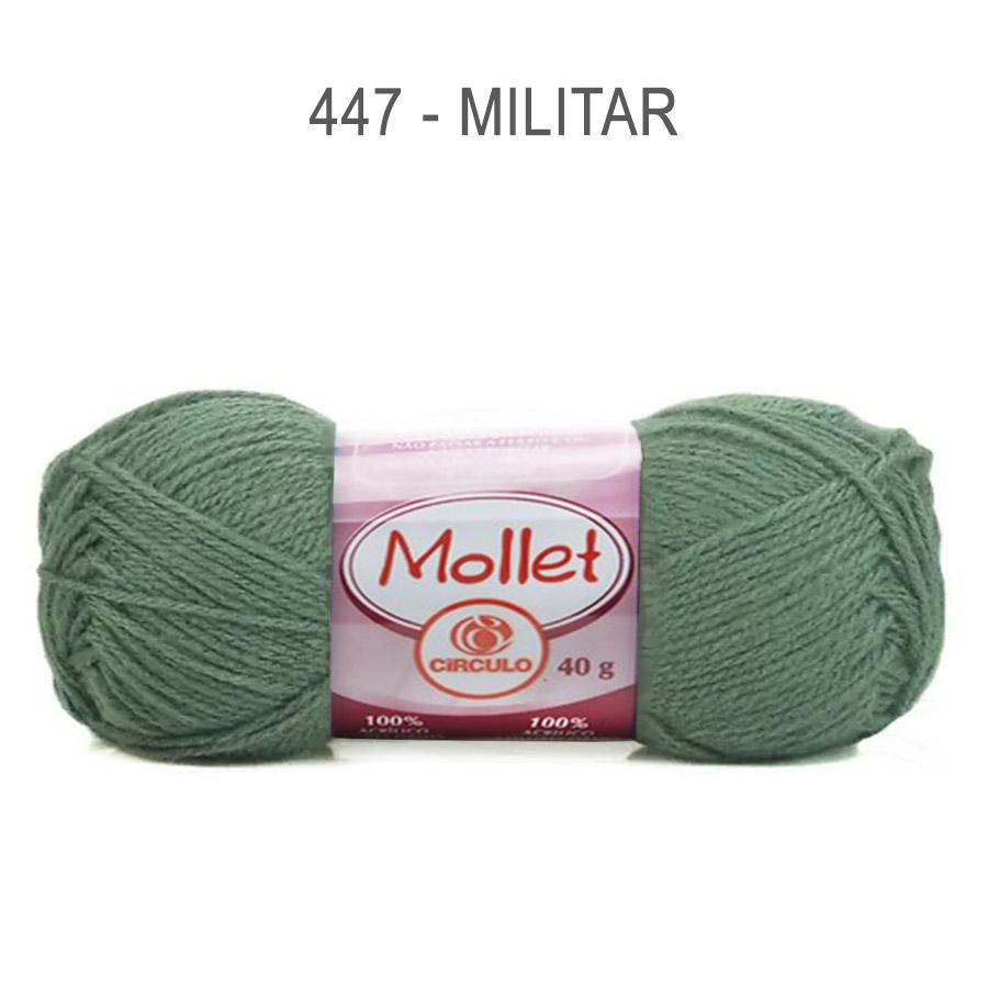 Lã Mollet 40g Cores Lisas - Circulo - 447 - Militar