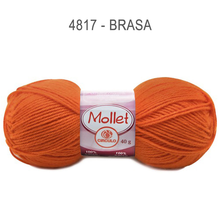 Lã Mollet 40g Cores Lisas - Circulo - 4817 - Brasa