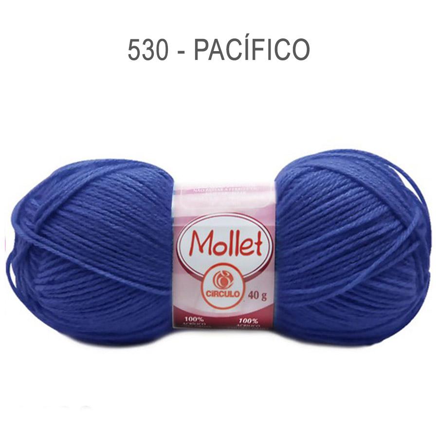Lã Mollet 40g Cores Lisas - Circulo - 530 - Pacífico