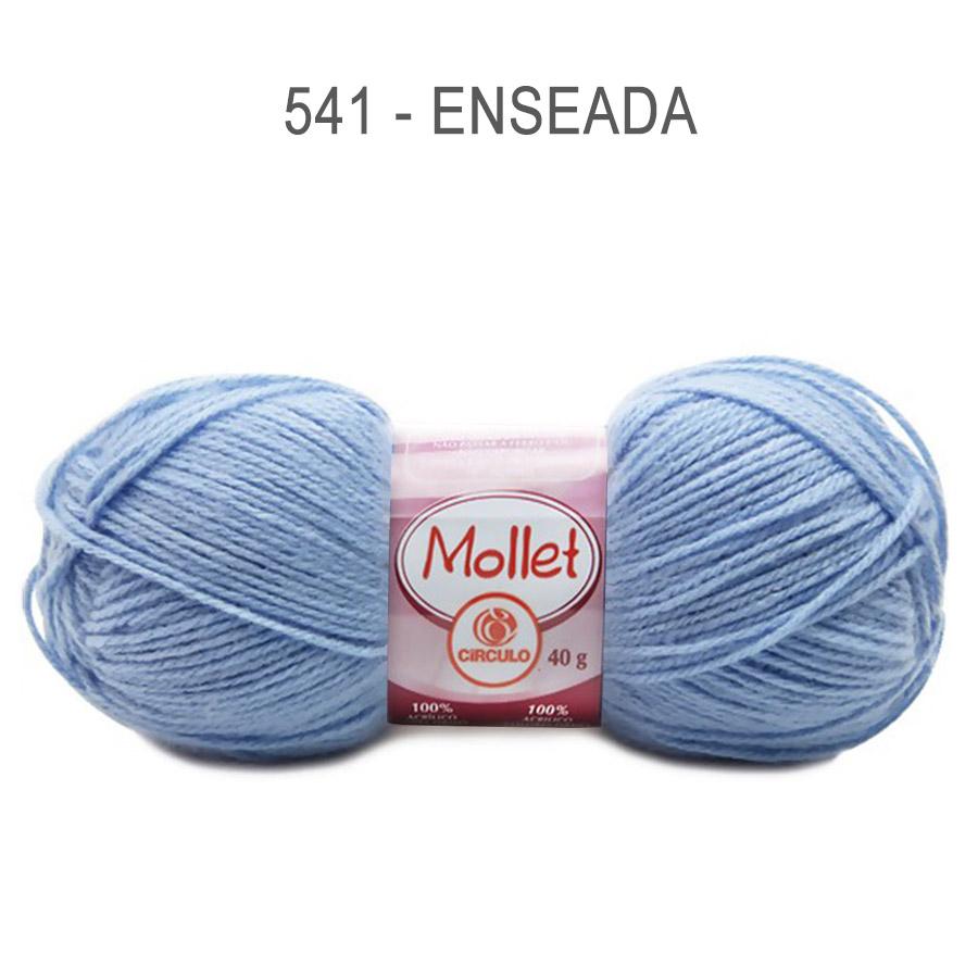 Lã Mollet 40g Cores Lisas - Circulo - 541 - Enseada
