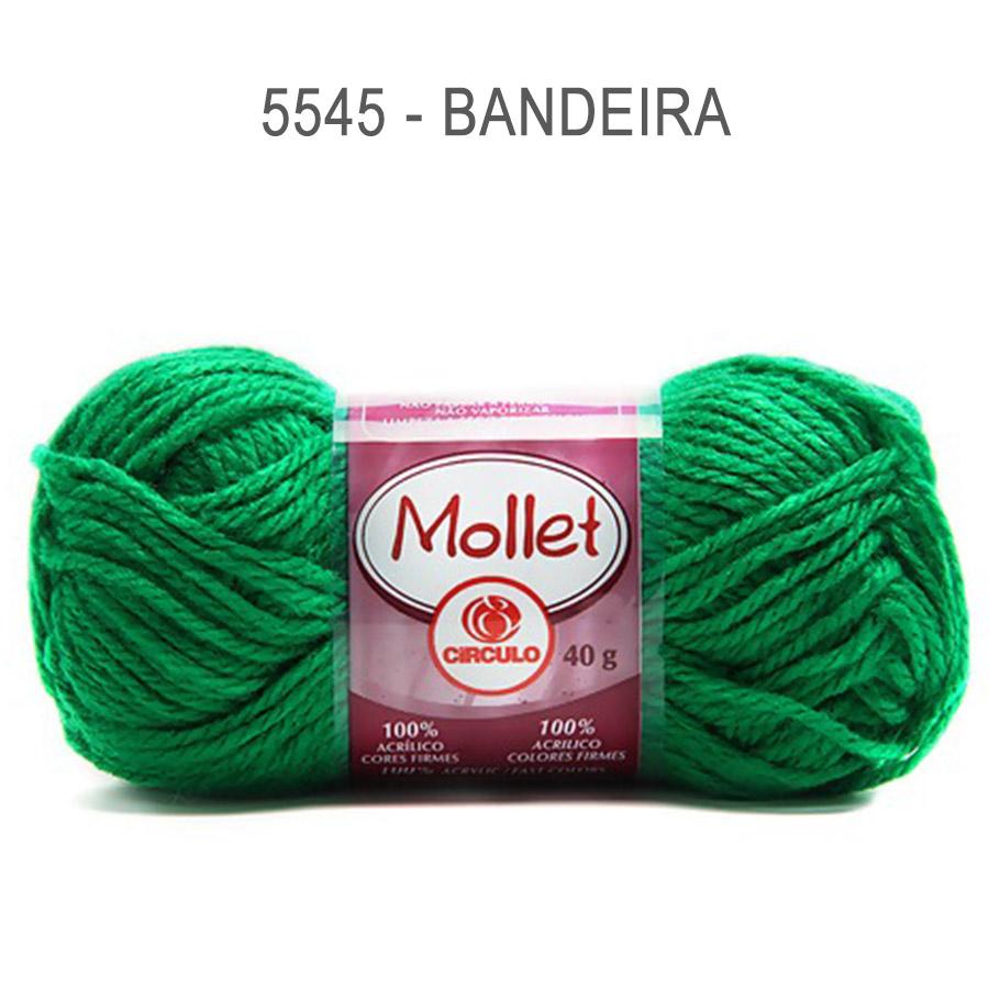 Lã Mollet 40g Cores Lisas - Circulo - 5545 - Bandeira