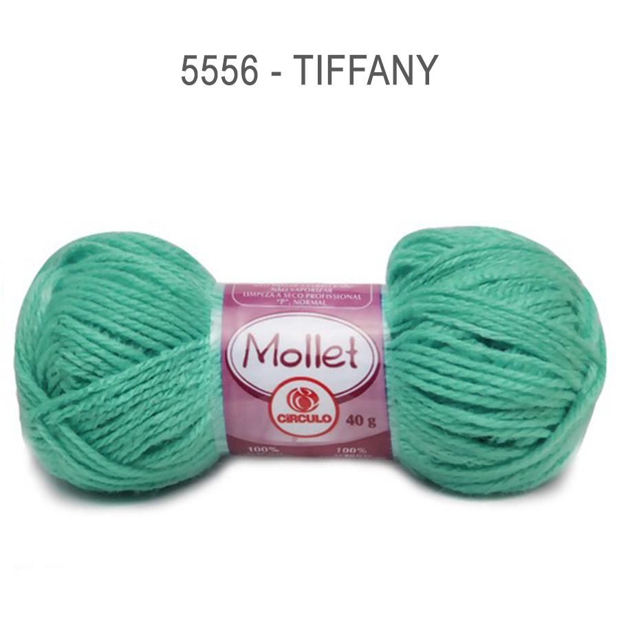 Lã Mollet 40g Cores Lisas - Circulo - 5556 - Tiffany