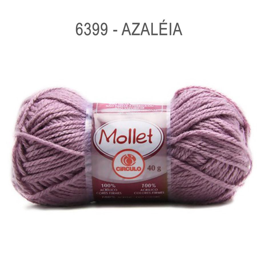 Lã Mollet 40g Cores Lisas - Circulo - 6399 - Azaléia