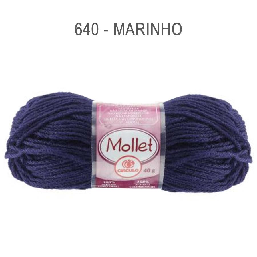 Lã Mollet 40g Cores Lisas - Circulo - 640 - Marinho