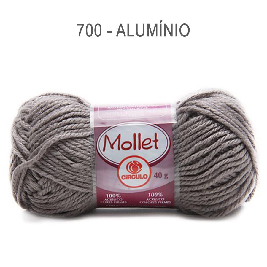 Lã Mollet 40g Cores Lisas - Circulo - 700 - Alumínio