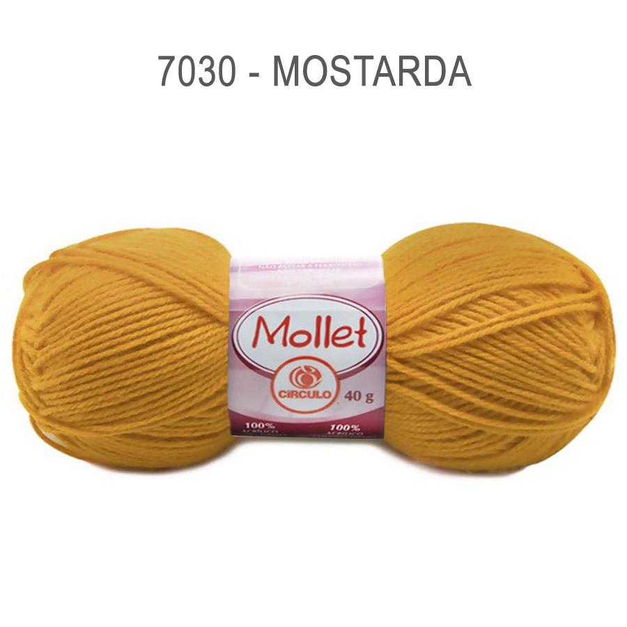 Lã Mollet 40g Cores Lisas - Circulo - 7030 - Mostarda
