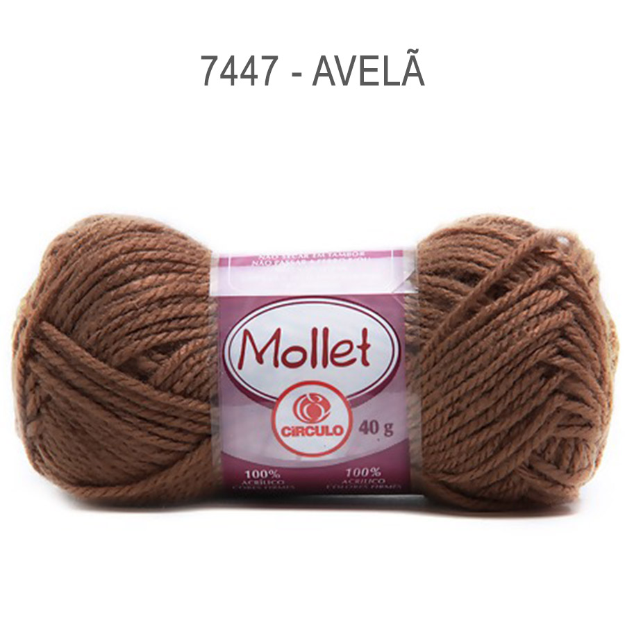 Lã Mollet 40g Cores Lisas - Circulo - 7447 - Avelã