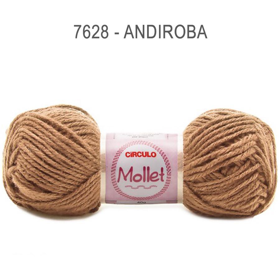 Lã Mollet 40g Cores Lisas - Circulo - 7628 - Andiroba