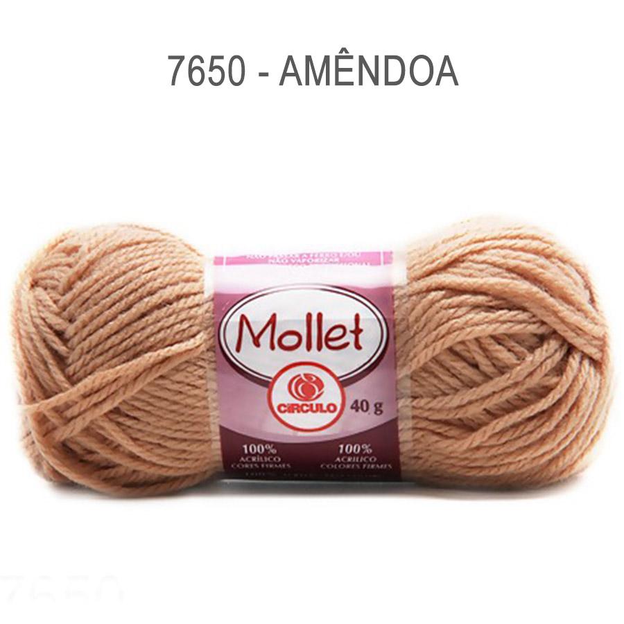 Lã Mollet 40g Cores Lisas - Circulo - 7650 - Amêndoa