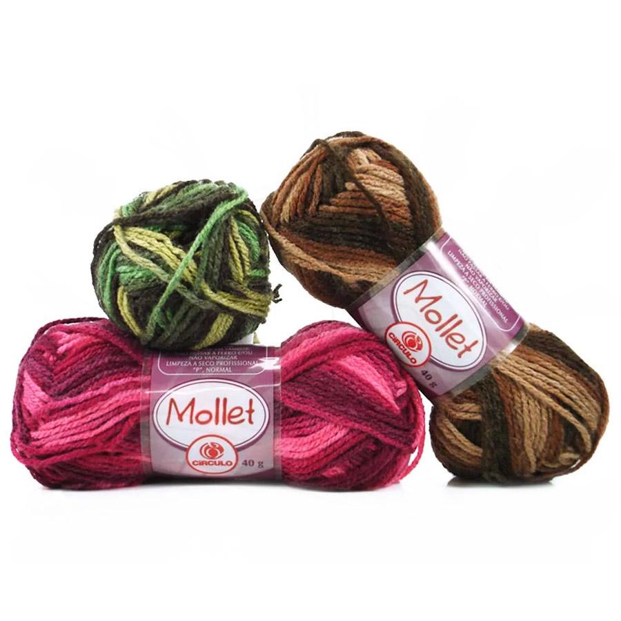 Lã Mollet 40g Multicolor - Circulo
