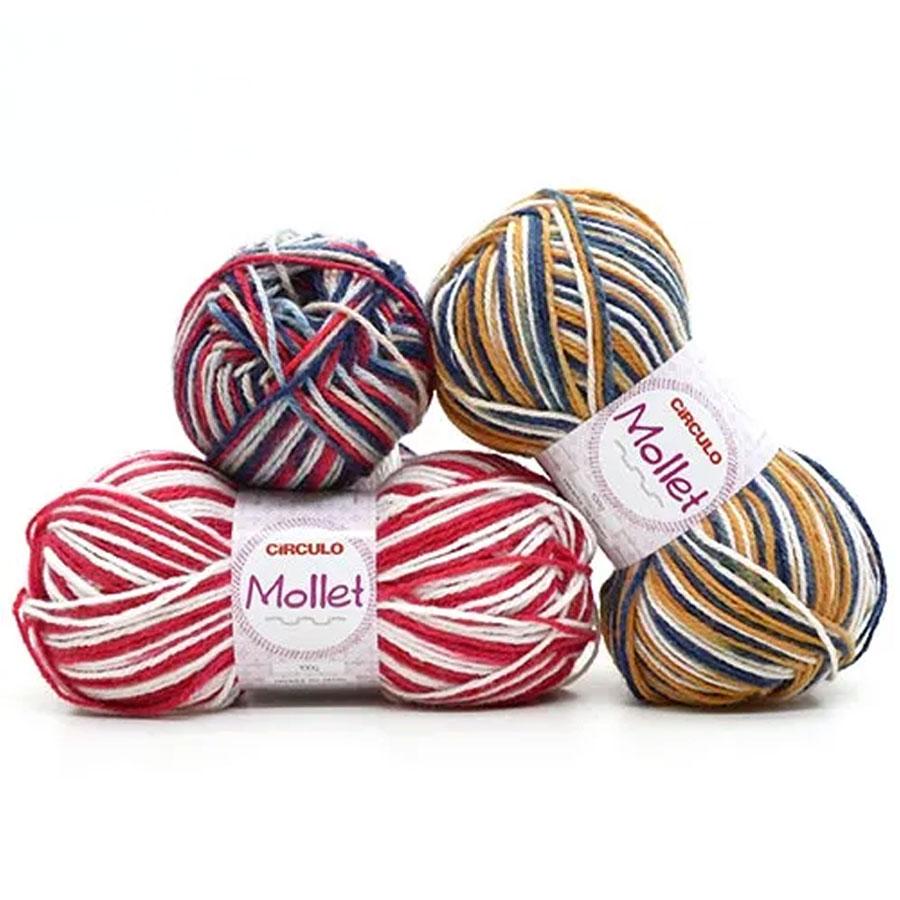 Lã Mollet 100g Multicolor - Circulo