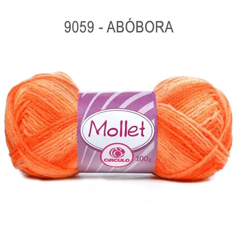 Lã Mollet 100g Multicolor - Circulo - 9059 - Abóbora