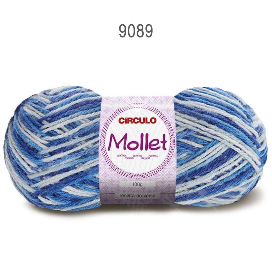 Lã Mollet 100g Multicolor - Circulo - 9089