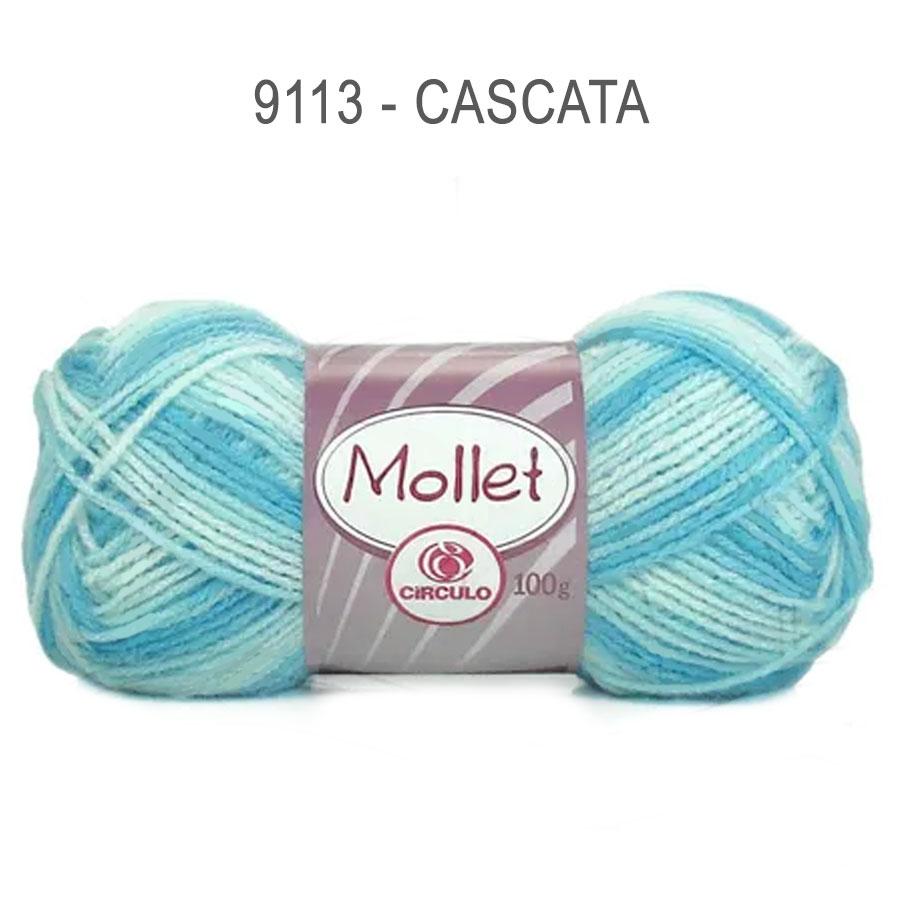 Lã Mollet 100g Multicolor - Circulo - 9113 - Cascata