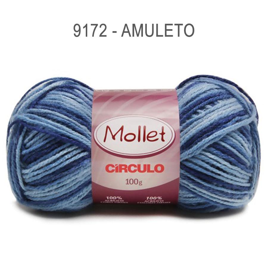 Lã Mollet 100g Multicolor - Circulo - 9172 - Amuleto
