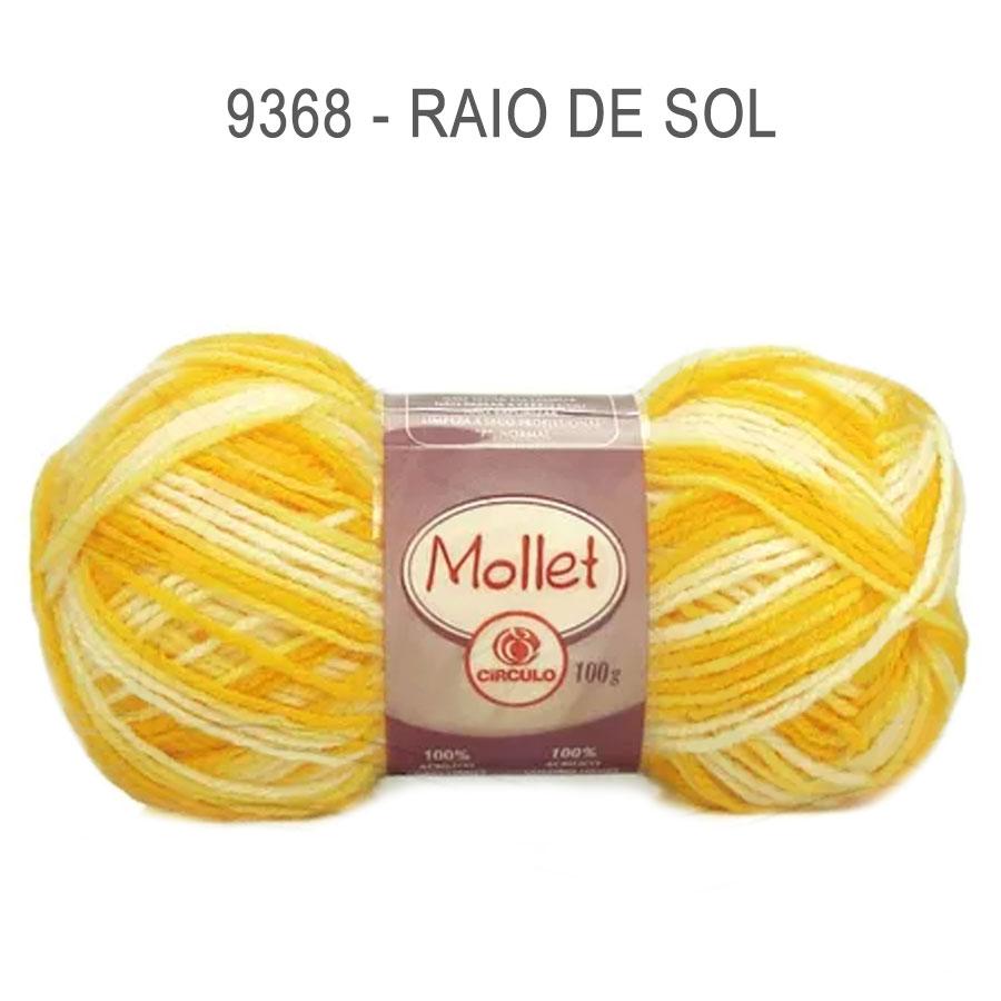 Lã Mollet 100g Multicolor - Circulo - 9368 - Raio de Sol