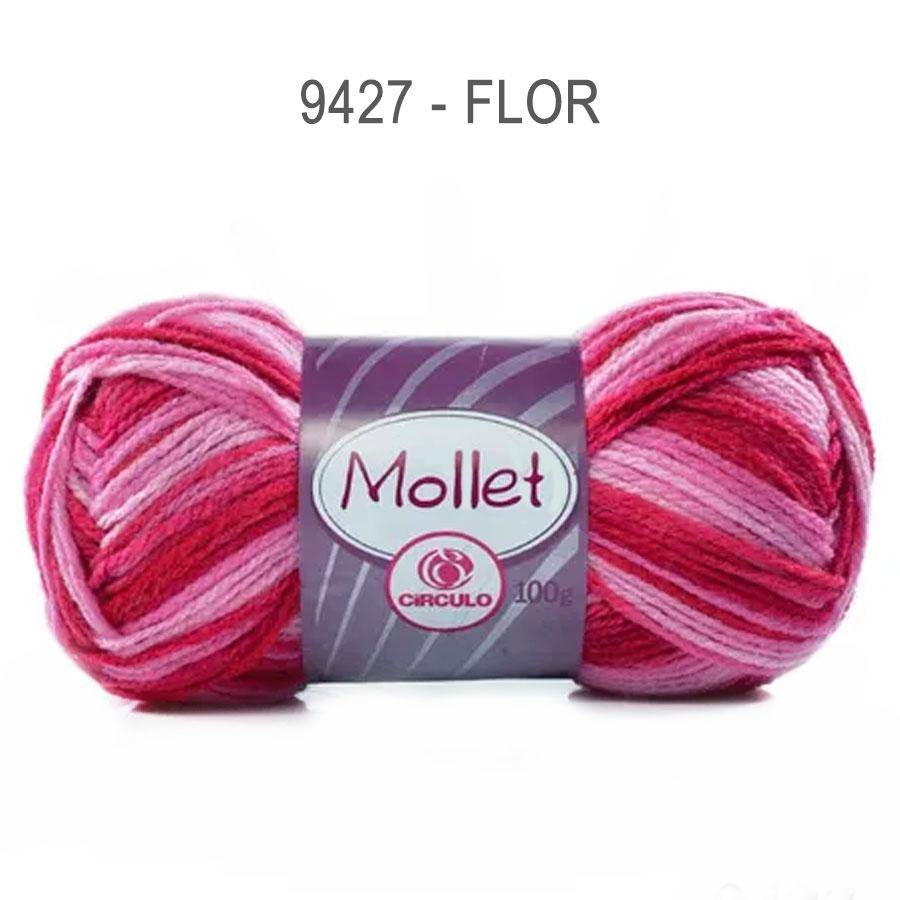 Lã Mollet 100g Multicolor - Circulo - 9427 - Flor