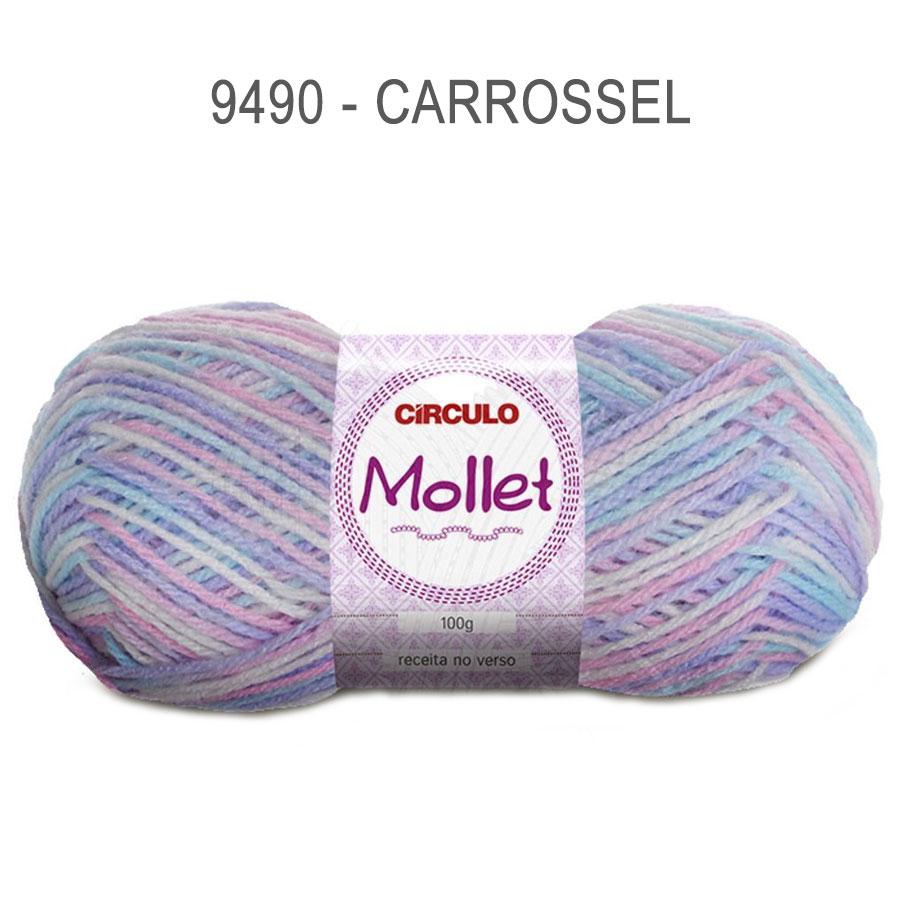 Lã Mollet 100g Multicolor - Circulo - 9490 - Carrossel