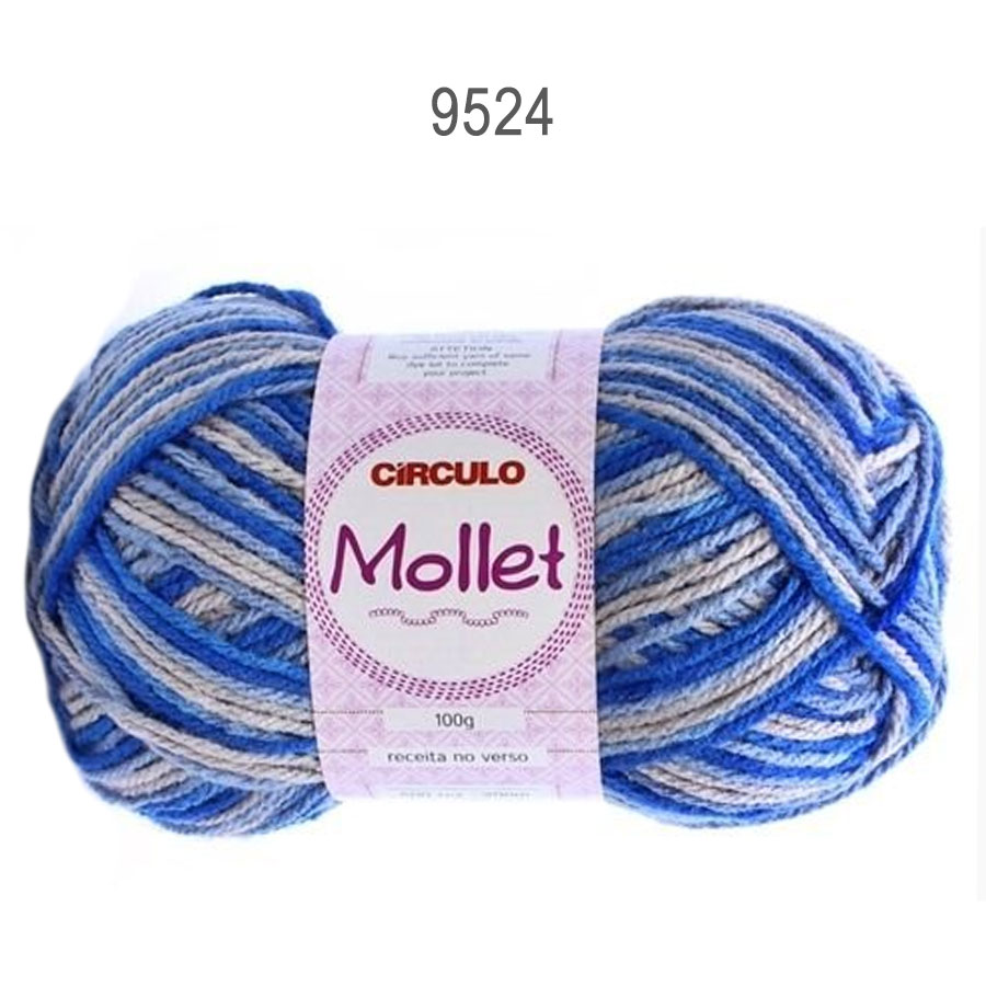 Lã Mollet 100g Multicolor - Circulo - 9524