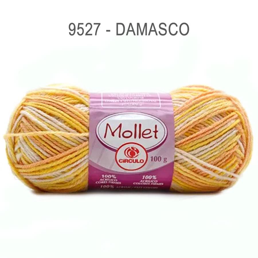 Lã Mollet 100g Multicolor - Circulo - 9527 - Damasco