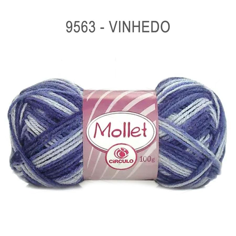 Lã Mollet 100g Multicolor - Circulo - 9563 - Vinhedo
