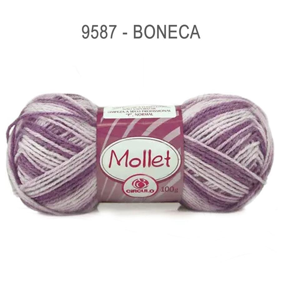 Lã Mollet 100g Multicolor - Circulo - 9587 - Boneca