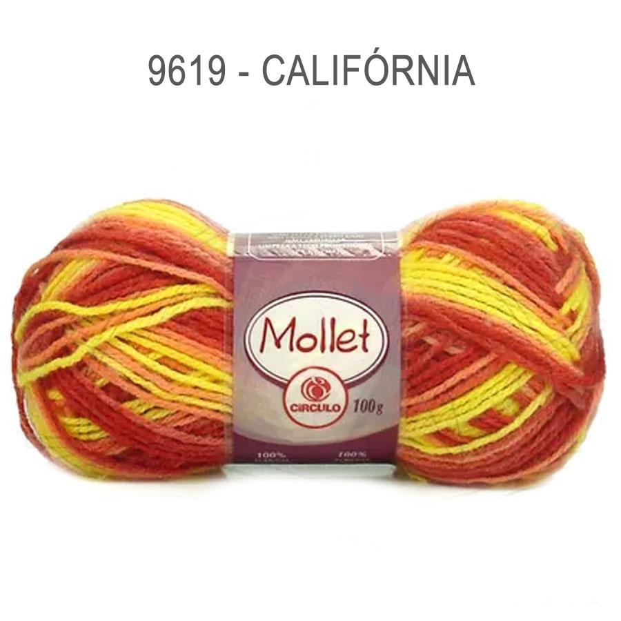 Lã Mollet 100g Multicolor - Circulo - 9619 - Califórnia