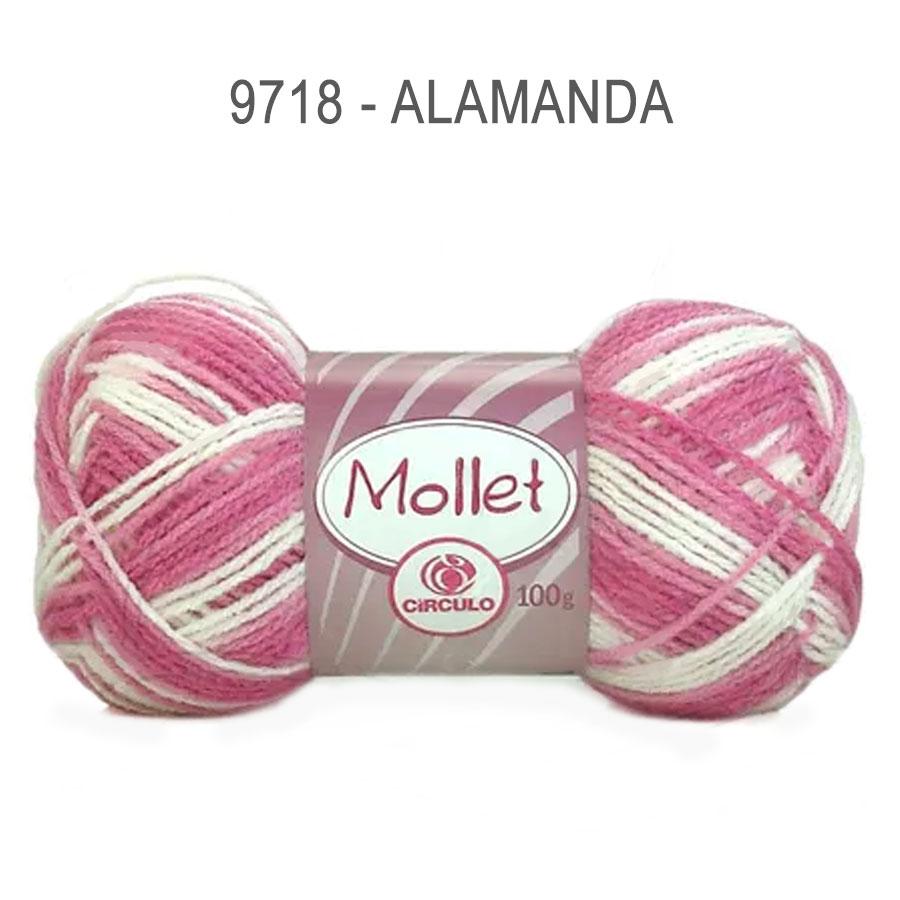 Lã Mollet 100g Multicolor - Circulo - 9718 - Alamanda