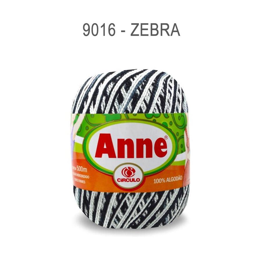 Linha Anne 500m Multicolor - Circulo - 9016 - Zebra