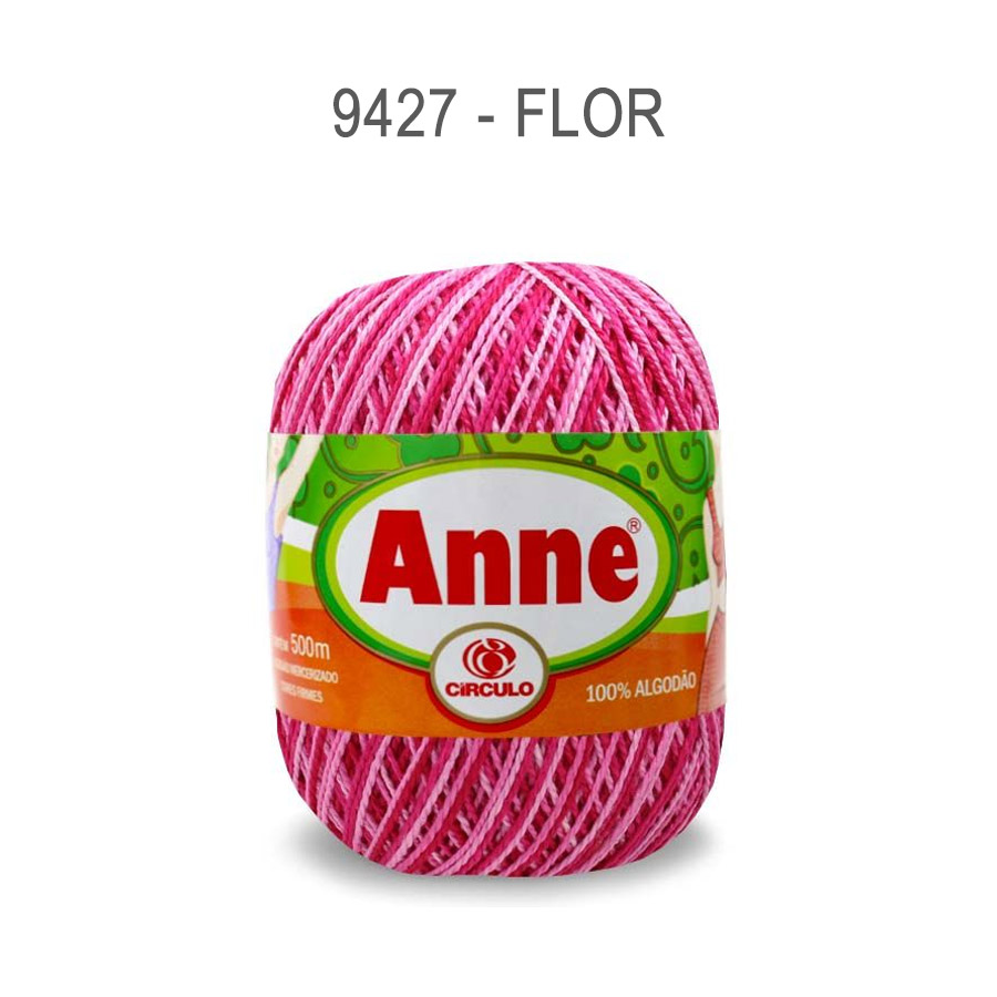 Linha Anne 500m Multicolor - Circulo - 9427 - Flor
