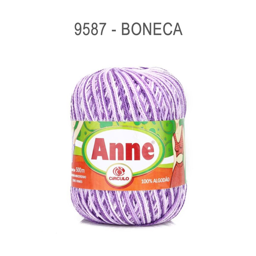 Linha Anne 500m Multicolor - Circulo - 9587 - Boneca
