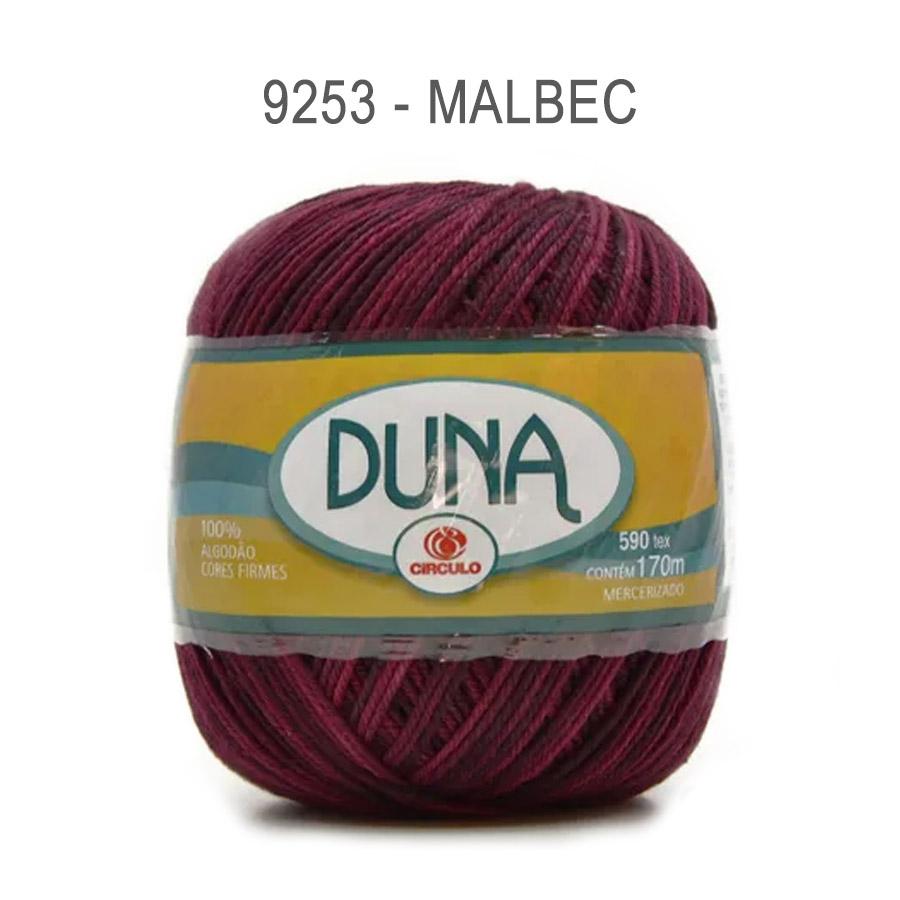 Linha Duna 100g Multicolor - Circulo - 9253 - Malbec